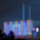 Lichtkunst am Heizkraftwerk