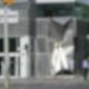 """""""Cerberus"""" vor der Investitionsbank am U-Bhf Spichernstraße in Wilmersdorf"""