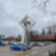 Das Windspiel vor dem Messegelände in Charlottenburg